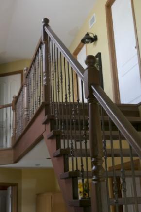 Escalier avec 2 limons, sans contre-marches