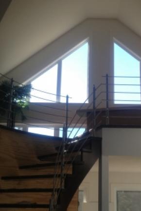 Escalier courbé ouvert 1 côté